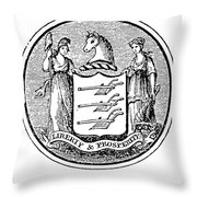 New Jersey State Seal Throw Pillow