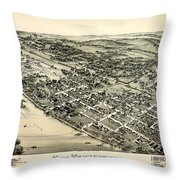 New Kensington Pennsylvania 1896 Throw Pillow