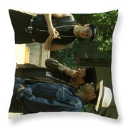 New Kids On The Block Throw Pillow