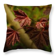 New Leaves For Napanee Throw Pillow