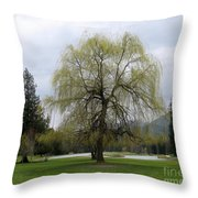 New Leaves Throw Pillow