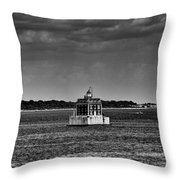 New London Shelf Light Black And White Throw Pillow