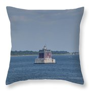 New London Shelf Light Throw Pillow