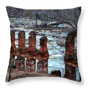 New Manchester Manufacturing Company Ruins Throw Pillow
