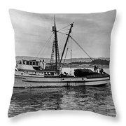 New Marretimo Purse Seiner Monterey Bay Circa 1947 Throw Pillow