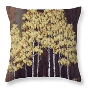 New Mexico Aspens 1 Throw Pillow