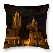 New Mexico Church Night Throw Pillow