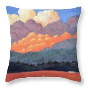 New Mexico Cloudscape  Throw Pillow