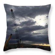 New Mexico Cloudy Sunrise Throw Pillow