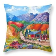 New Mexico Colors Throw Pillow
