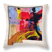 New Mexico Map Art - Painted Map Of New Mexico Throw Pillow