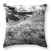 New Mexico Mountains Throw Pillow