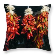 New Mexico Red Chili Peppers Throw Pillow