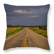 New Mexico Road 10 Throw Pillow