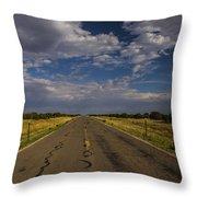 New Mexico Road 7 Throw Pillow