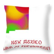 New Mexico State Map Collection 2 Throw Pillow