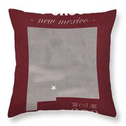 New Mexico State University Las Cruces Aggies College Town State Map Poster Series No 075 Throw Pillow
