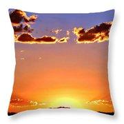 New Mexico Sunset Glow Throw Pillow