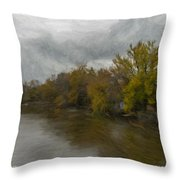 New Milford By Water Side Throw Pillow