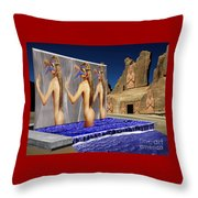 New Monument For The 3 Goddesses Throw Pillow