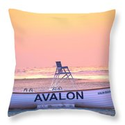 New Morning In Avalon Throw Pillow