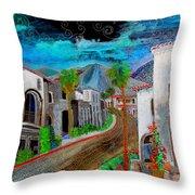 New Old Town La Quinta Throw Pillow