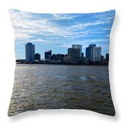 New Orleans - Skyline Of New Orleans Throw Pillow