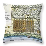 New Orleans, 1718-20 Throw Pillow