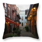 New Orleans Ally Throw Pillow