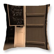 New Orleans - Bourbon Street Menu 3 Throw Pillow