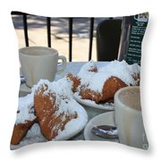 New Orleans Breakfast Throw Pillow by Carol Groenen