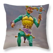 New Orleans - Canal Street Ferry Jester Throw Pillow by Christine Till