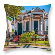 New Orleans Charm Throw Pillow