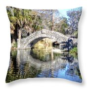 New Orleans City Park Throw Pillow
