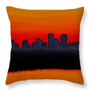 New Orleans City Sunset Throw Pillow