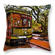 New Orleans Classique Line Art Throw Pillow