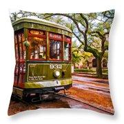 New Orleans Classique Oil Throw Pillow