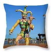 New Orleans Clown French Quarters Throw Pillow