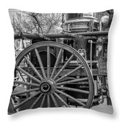 New Orleans Fire Department 1896 Bw Throw Pillow