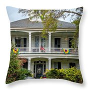 New Orleans Frat House Throw Pillow