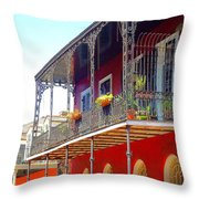 New Orleans French Quarter Architecture 2 Throw Pillow
