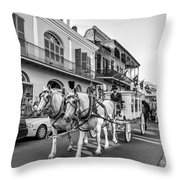 New Orleans Funeral Monochrome Throw Pillow