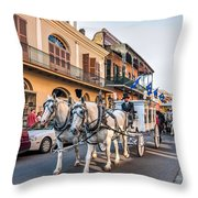 New Orleans Funeral Throw Pillow