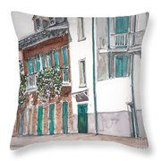 New Orleans Gov. Nichols And Royal St Throw Pillow by Anthony Butera