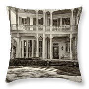 New Orleans Home - Paint Sepia Throw Pillow