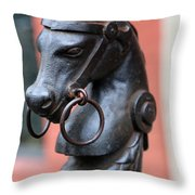New Orleans Horse Tether Throw Pillow