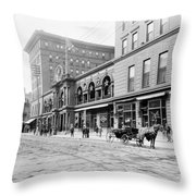 New Orleans Hotel, C1900 Throw Pillow