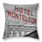 New Orleans - Hotel Monteleone Throw Pillow