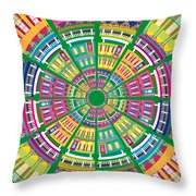 New Orleans House Roundel Throw Pillow