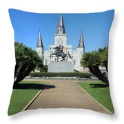 New Orleans - Jackson's Square Throw Pillow